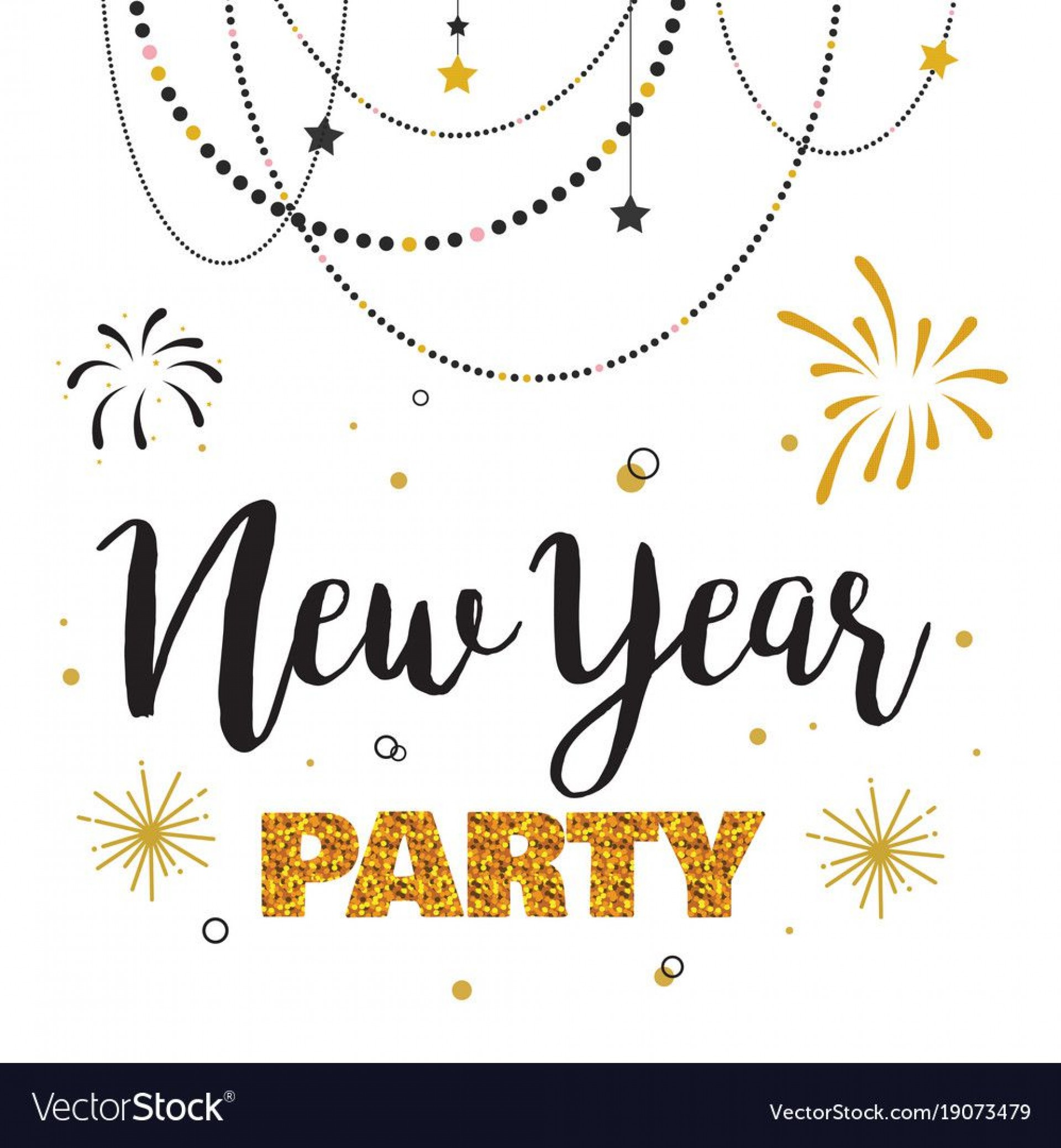 006 Magnificent New Year Eve Invitation Template Photo  Party Free Word1920