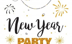 006 Magnificent New Year Eve Invitation Template Photo  Party Free Word