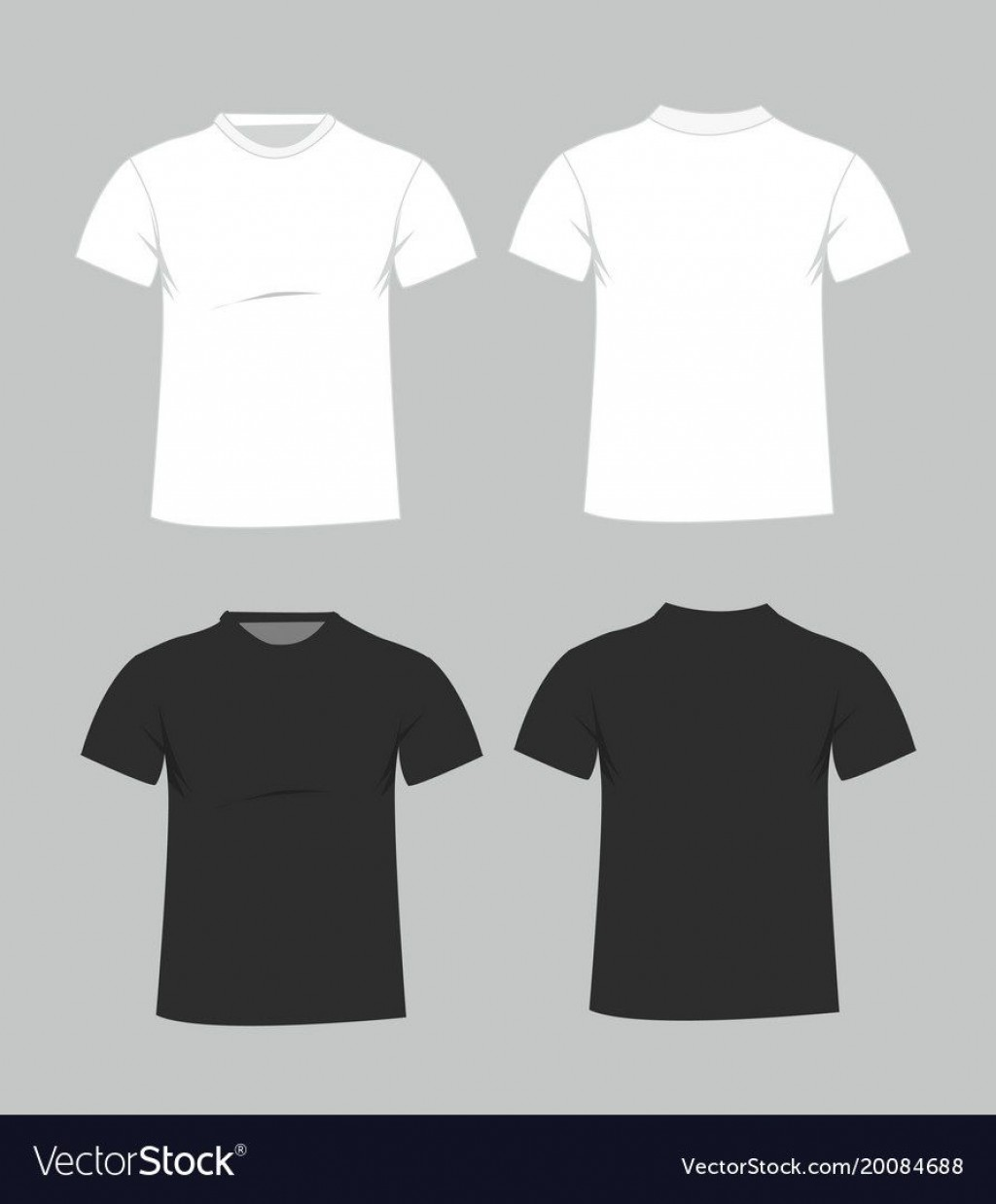 006 Magnificent Plain T Shirt Template Example  Blank Front And BackLarge