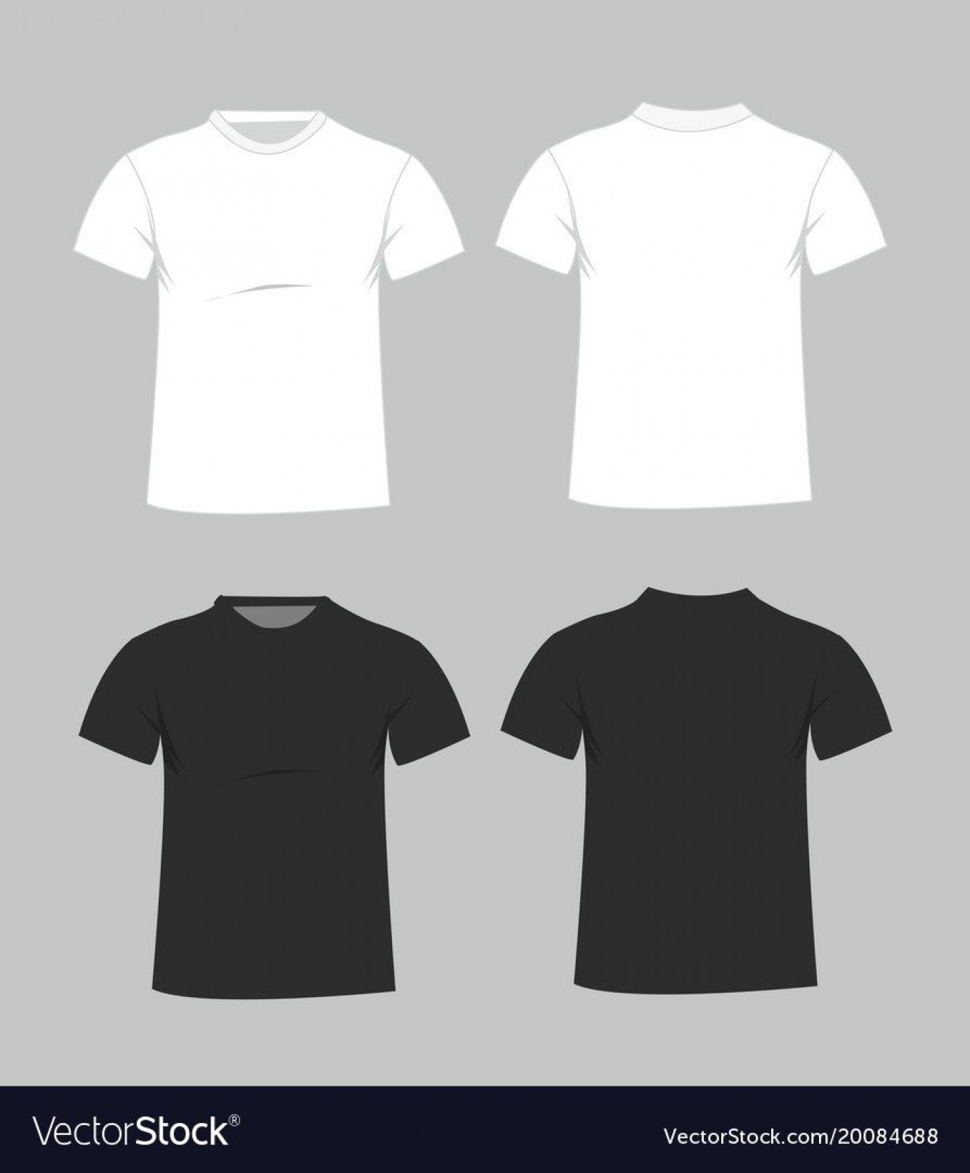 006 Magnificent Plain T Shirt Template Example  Blank Front And Back1400