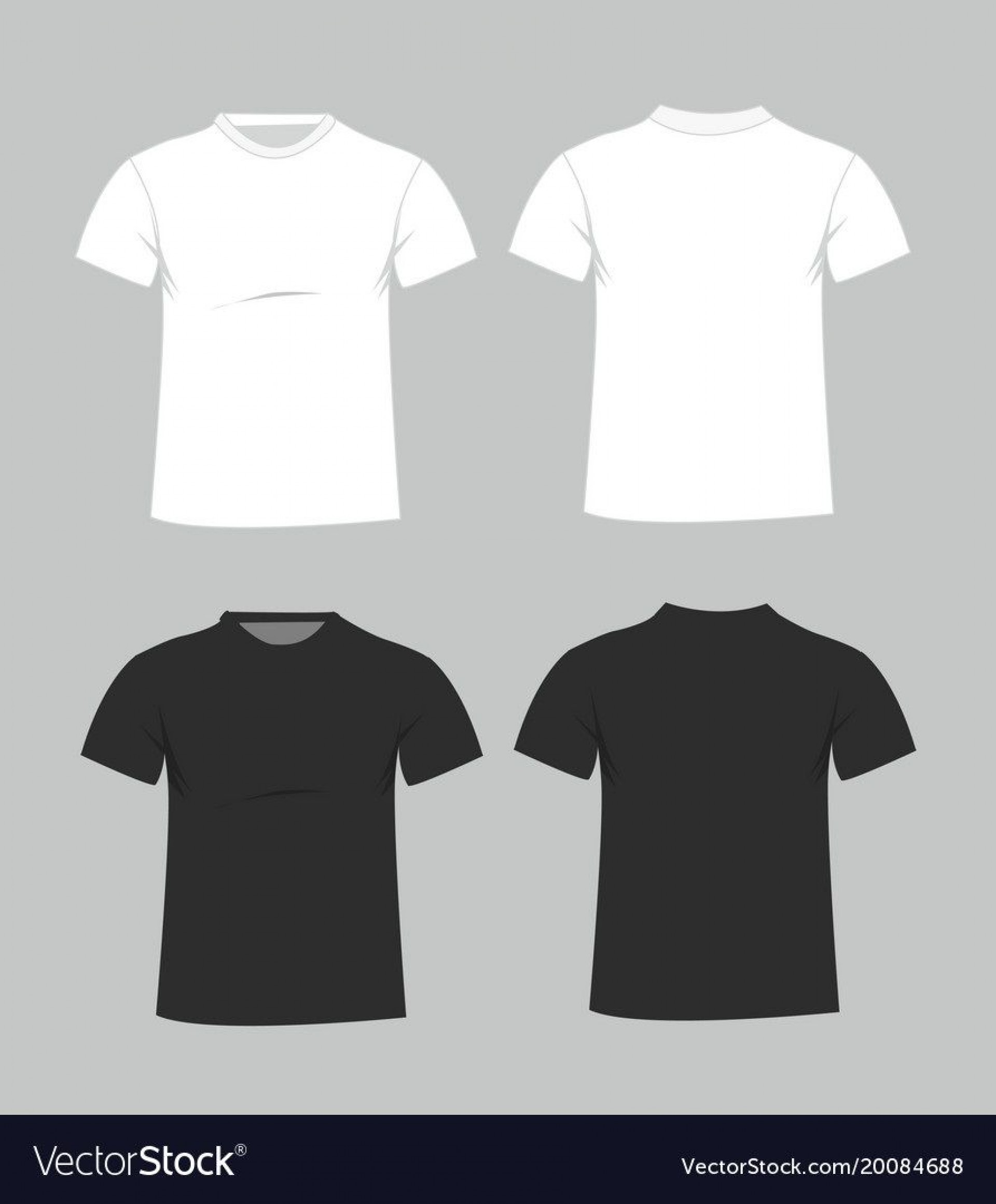 006 Magnificent Plain T Shirt Template Example  Blank Front And Back1920