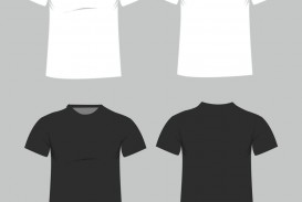 006 Magnificent Plain T Shirt Template Example  Blank Front And Back