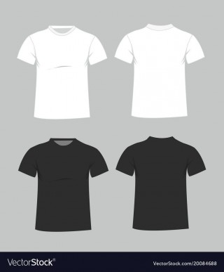 006 Magnificent Plain T Shirt Template Example  Blank Front And Back320