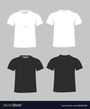 006 Magnificent Plain T Shirt Template Example  Blank Front And Back360