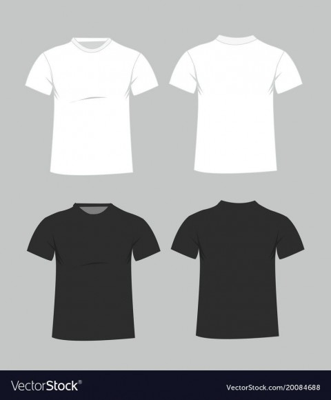 006 Magnificent Plain T Shirt Template Example  Blank Front And Back480