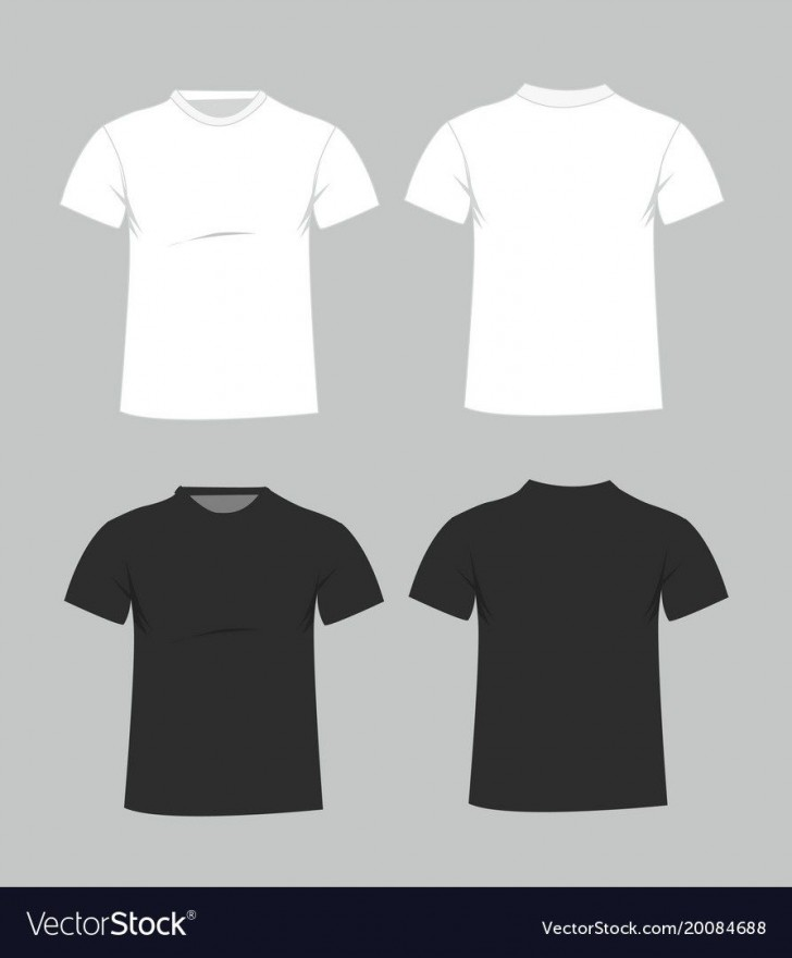 006 Magnificent Plain T Shirt Template Example  Blank Front And Back728