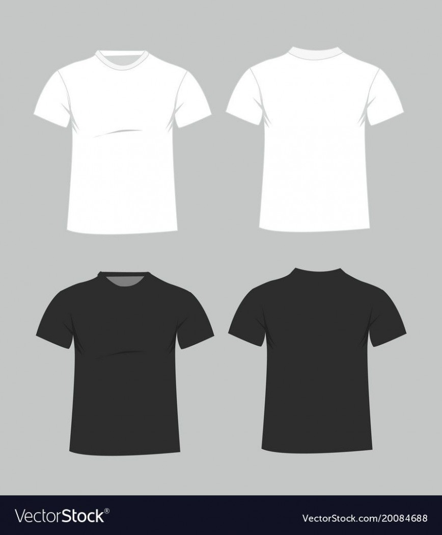 006 Magnificent Plain T Shirt Template Example  Blank Front And Back868
