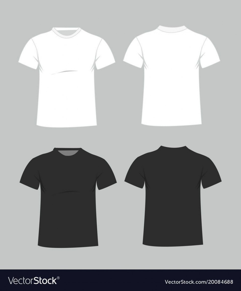 006 Magnificent Plain T Shirt Template Example  Blank Front And Back960