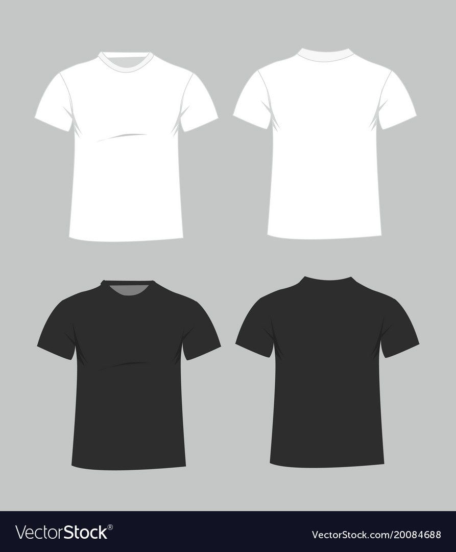 006 Magnificent Plain T Shirt Template Example  Blank Front And BackFull