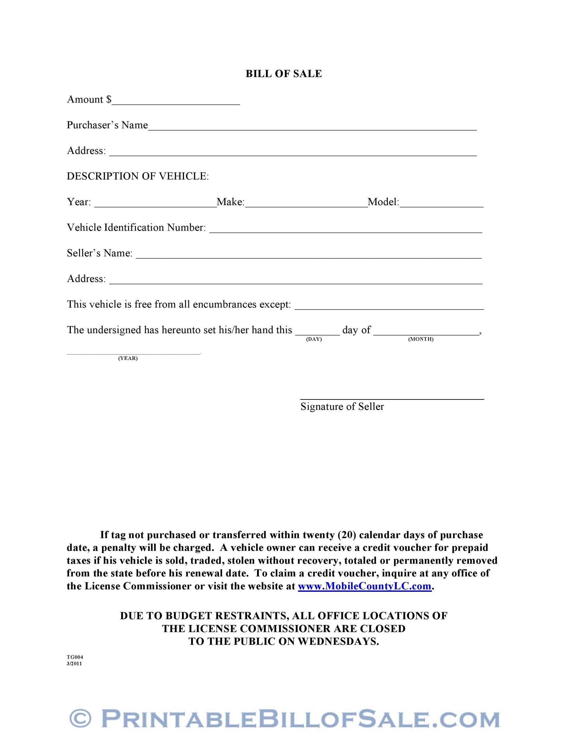 006 Magnificent Printable Bill Of Sale Template Inspiration  Word Saskatchewan Free Used Car Ontario1920
