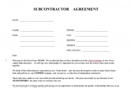 006 Magnificent Subcontractor Contract Template Free Example  Uk