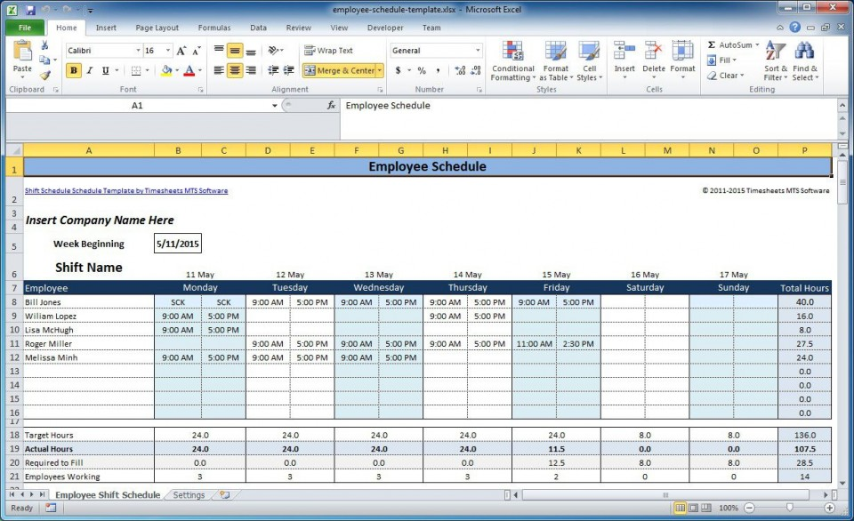 006 Magnificent Work Schedule Format In Excel Download Highest Quality  Order Template Free960
