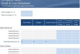 006 Marvelou Basic Profit And Los Template Highest Quality  Free Simple Form Statement Excel For Self Employed