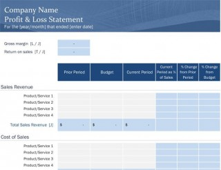 006 Marvelou Basic Profit And Los Template Highest Quality  Free Simple Form Statement Excel For Self Employed320