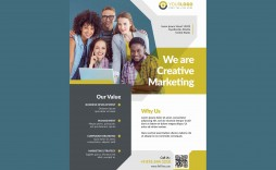 006 Marvelou Busines Flyer Template Free Picture  Psd 2018 Vector Brochure Training