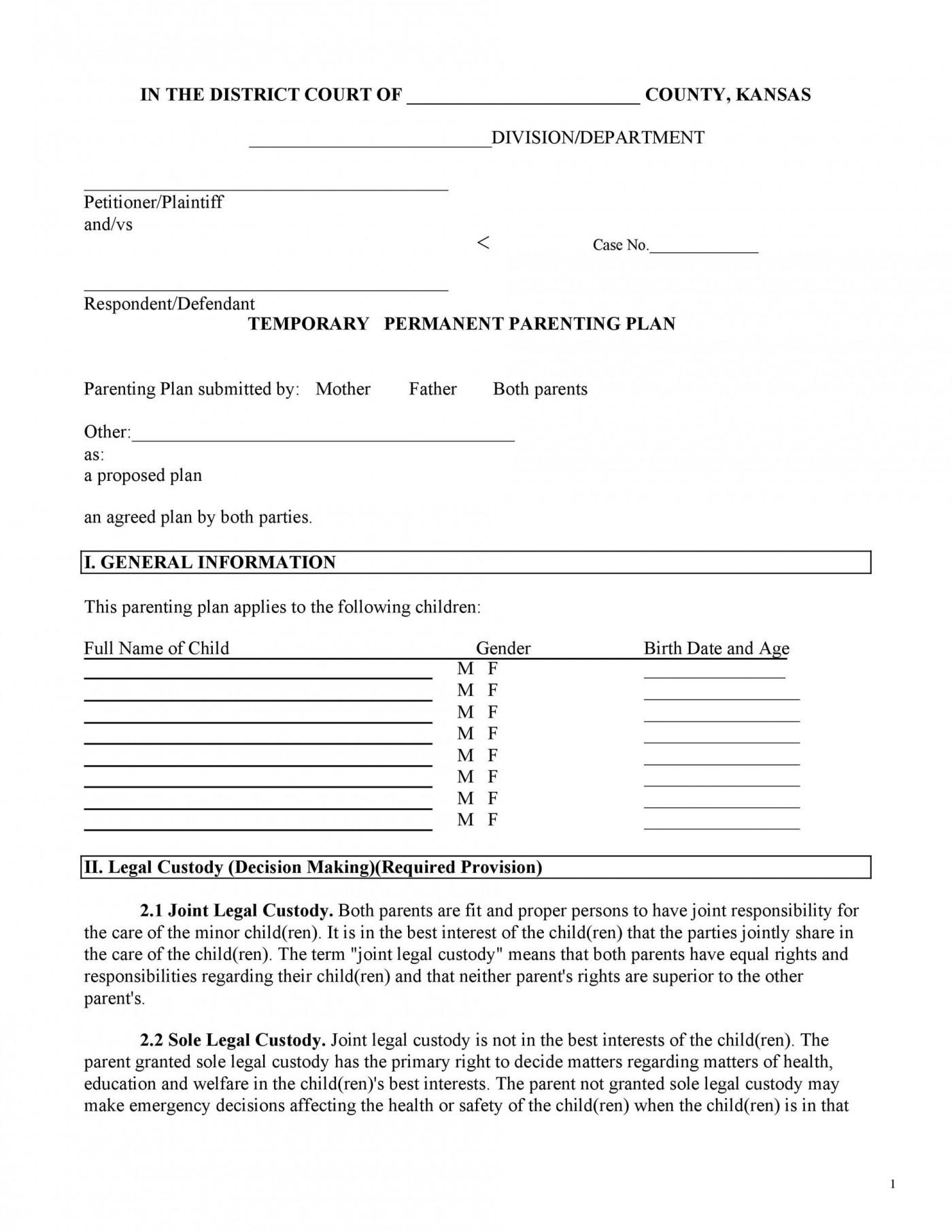 006 Marvelou Child Custody Agreement Template Idea  Texa Nj Uk1400