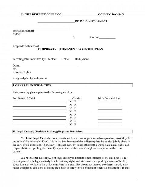 006 Marvelou Child Custody Agreement Template Idea  Texa Nj Uk480