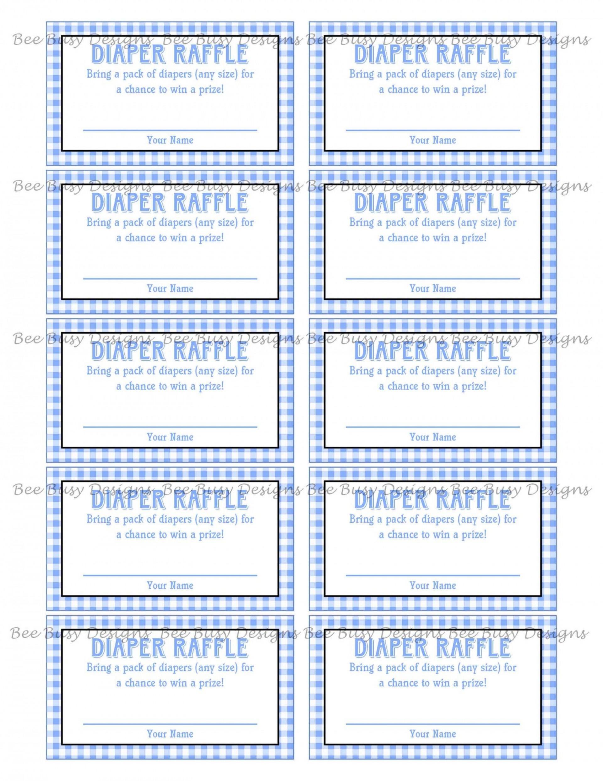 006 Marvelou Diaper Raffle Ticket Template Sample  Boy Free Printable Print Black And White1920