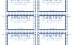 006 Marvelou Diaper Raffle Ticket Template Sample  Boy Free Printable Print Black And White