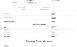 006 Marvelou Employee Emergency Contact Form Template High Definition  Uk Free