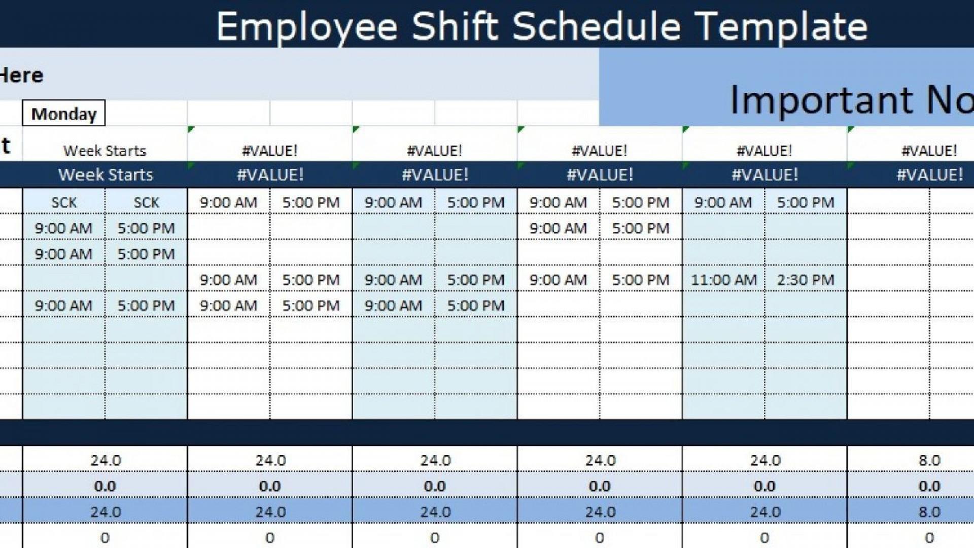 006 Marvelou Employee Shift Scheduling Template Design  Schedule Google Sheet Work Plan Word Weekly Excel Free1920