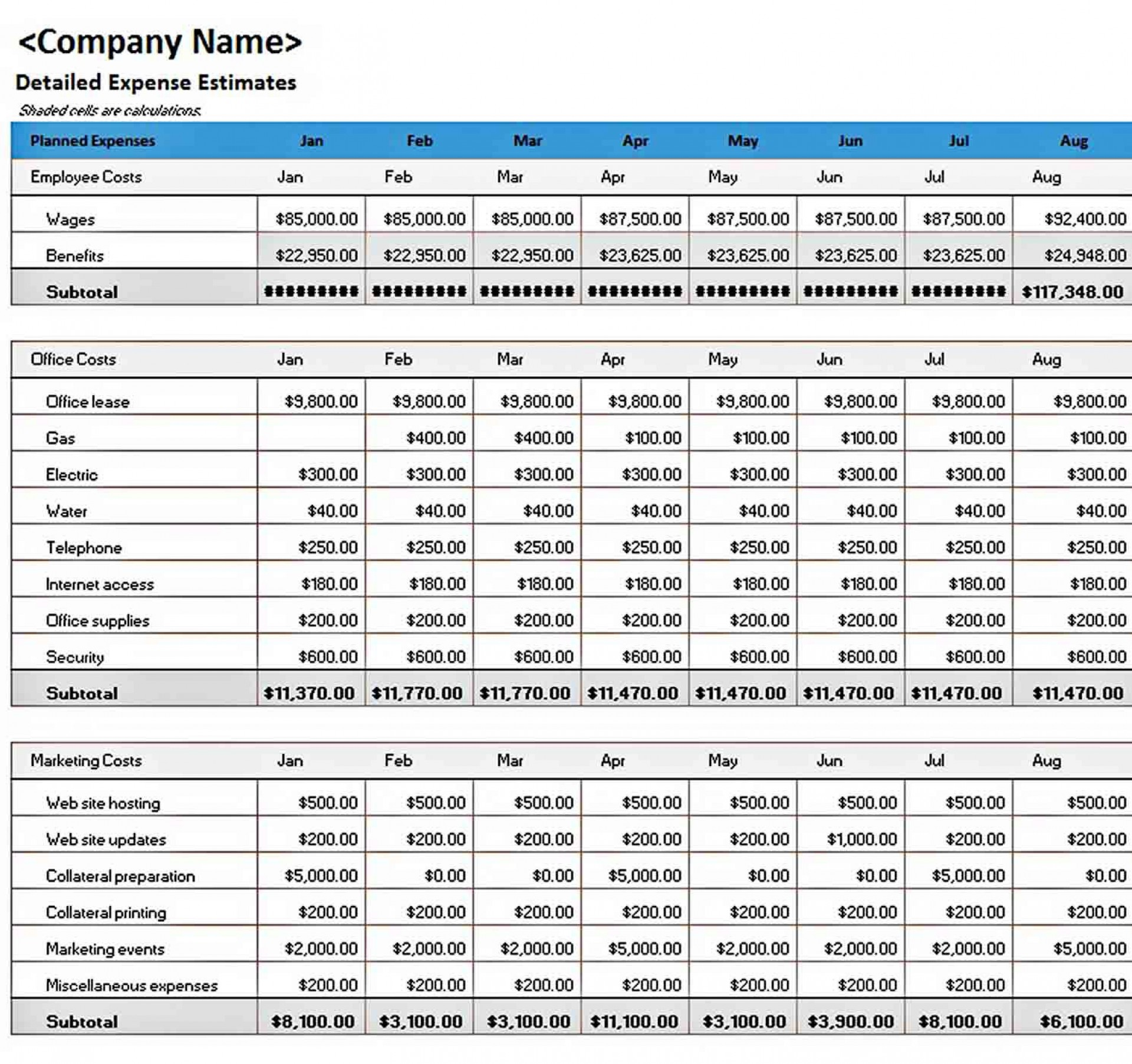 006 Marvelou Excel Busines Budget Template Picture  Small Monthly Yearly Free Spreadsheet1920