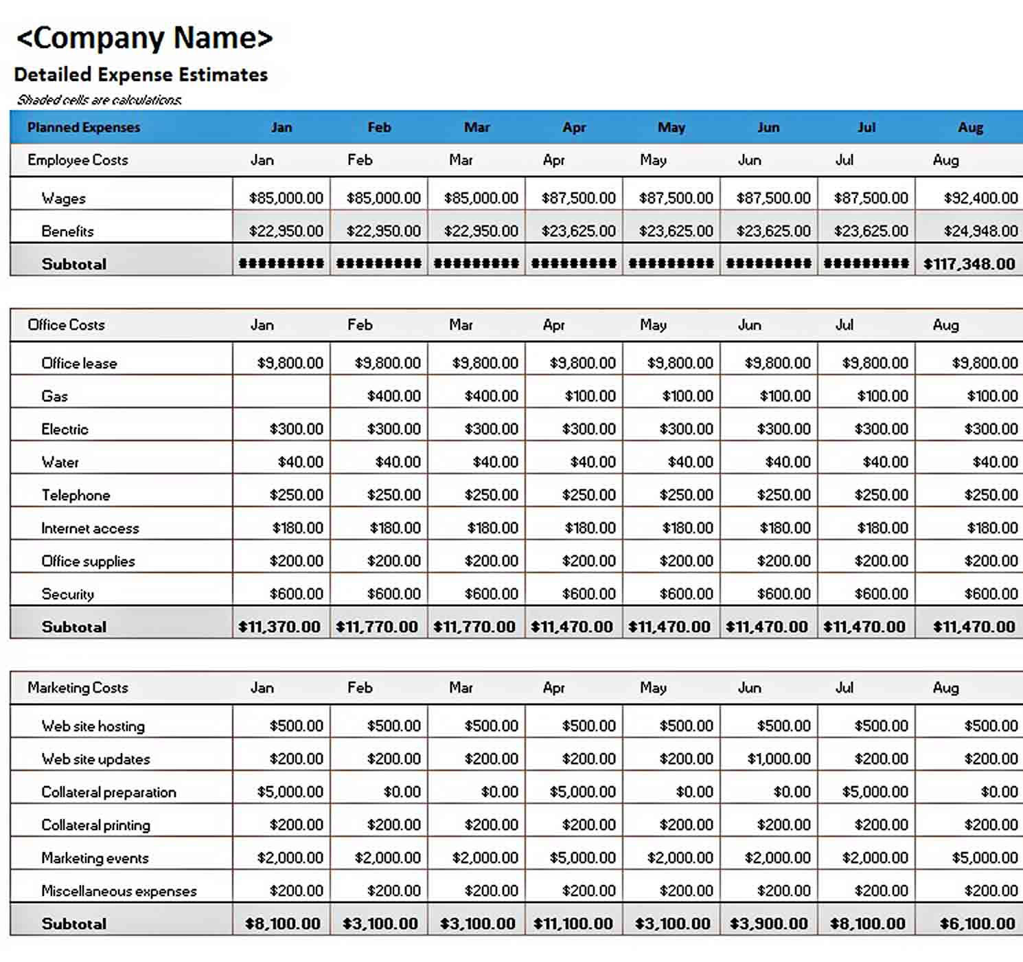 006 Marvelou Excel Busines Budget Template Picture  Small Monthly Yearly Free SpreadsheetFull