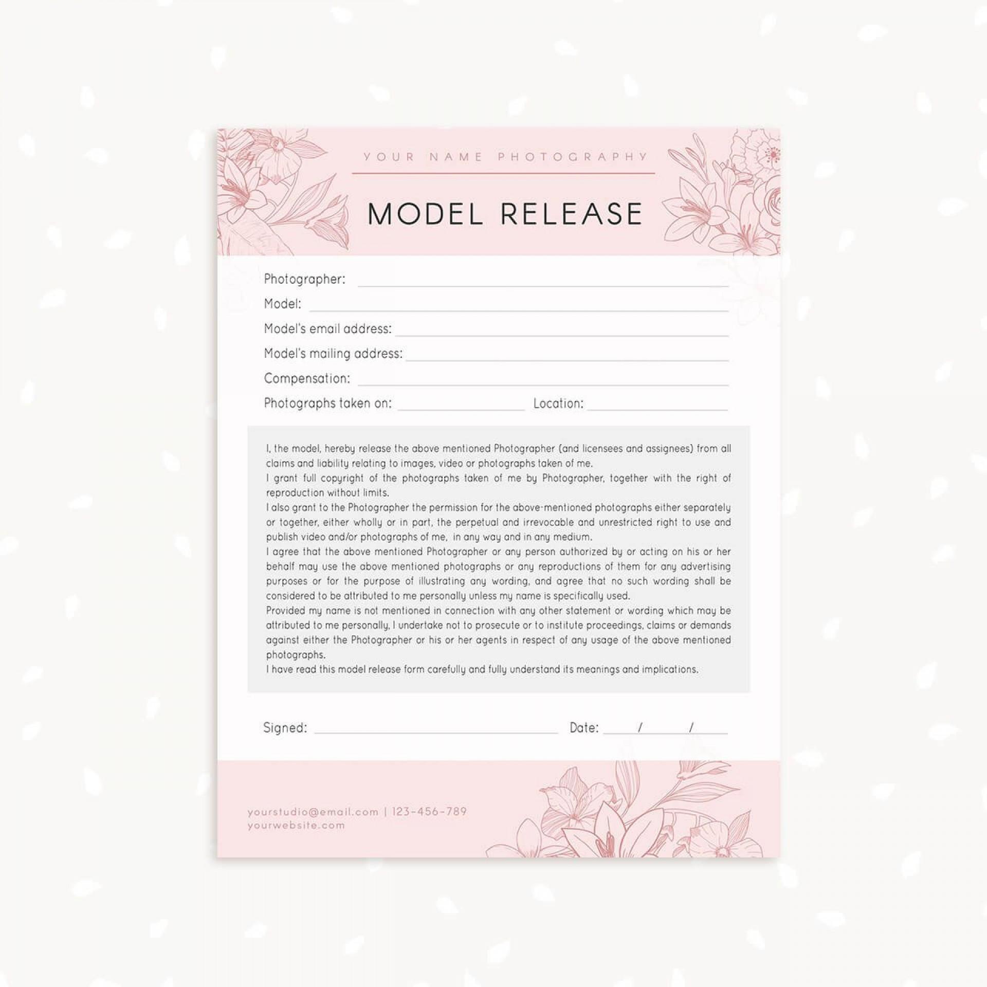 006 Marvelou Model Release Form Template Highest Clarity  Photography Uk Gdpr Australia1920