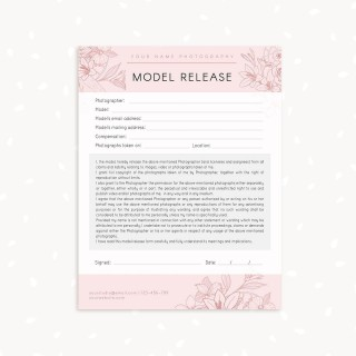 006 Marvelou Model Release Form Template Highest Clarity  Photographer Gdpr Simple320