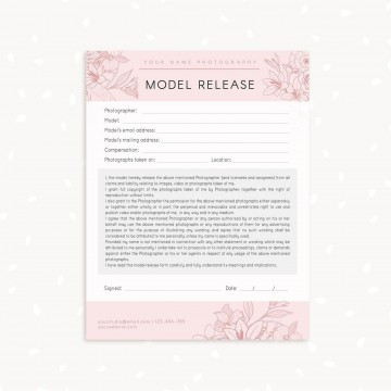 006 Marvelou Model Release Form Template Highest Clarity  Photographer Gdpr Simple360