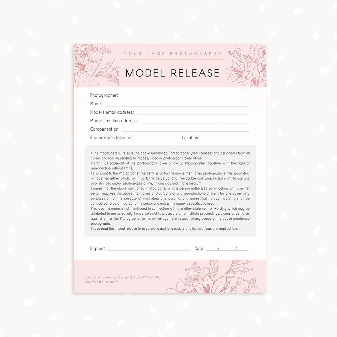 006 Marvelou Model Release Form Template Highest Clarity  Photography Uk Gdpr AustraliaFull