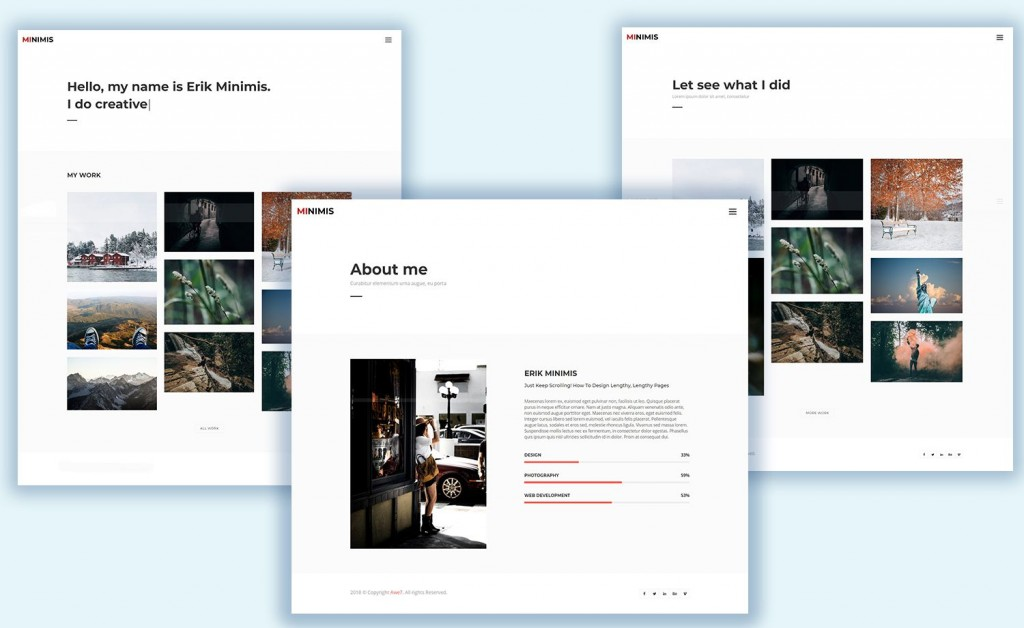 006 Marvelou Personal Portfolio Template Free Download Photo  Psd PowerpointLarge