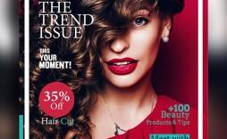 006 Marvelou Photoshop Fashion Magazine Cover Template Free Idea