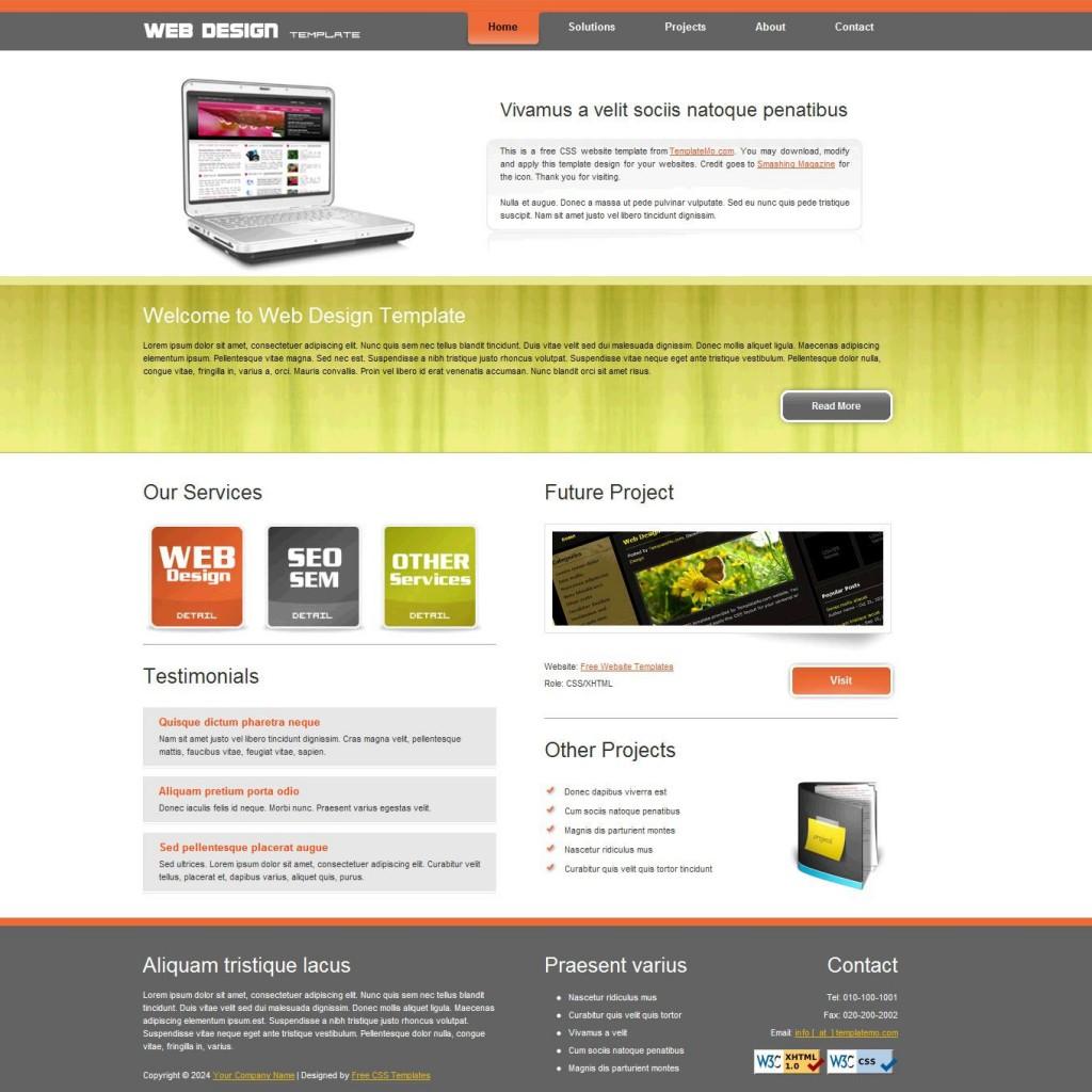 006 Marvelou Website Design Template Free Picture  Asp.net Web Download PsdLarge