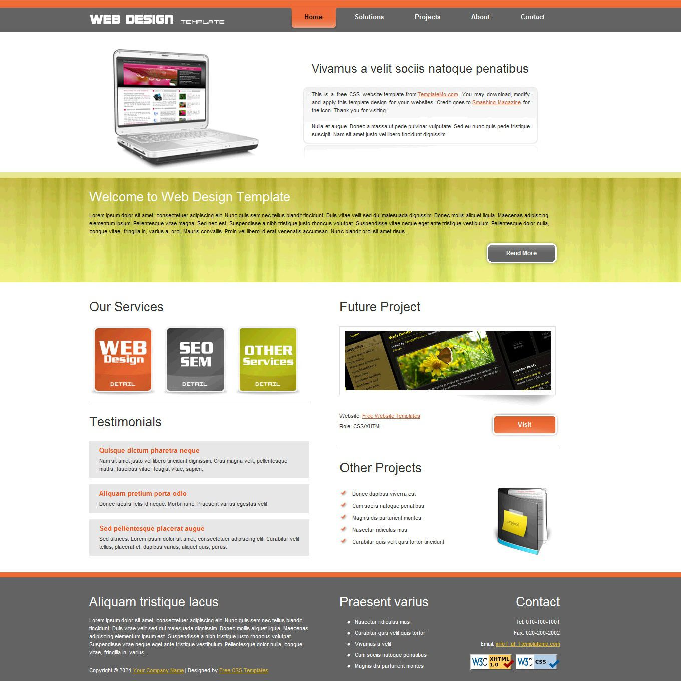 006 Marvelou Website Design Template Free Picture  Asp.net Web Download PsdFull