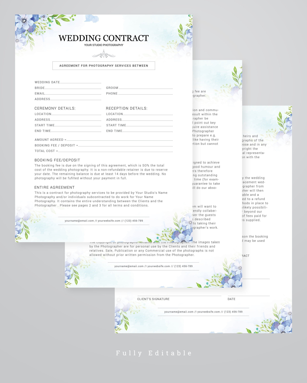 006 Marvelou Wedding Photographer Contract Template Sample  Free Photography UkFull