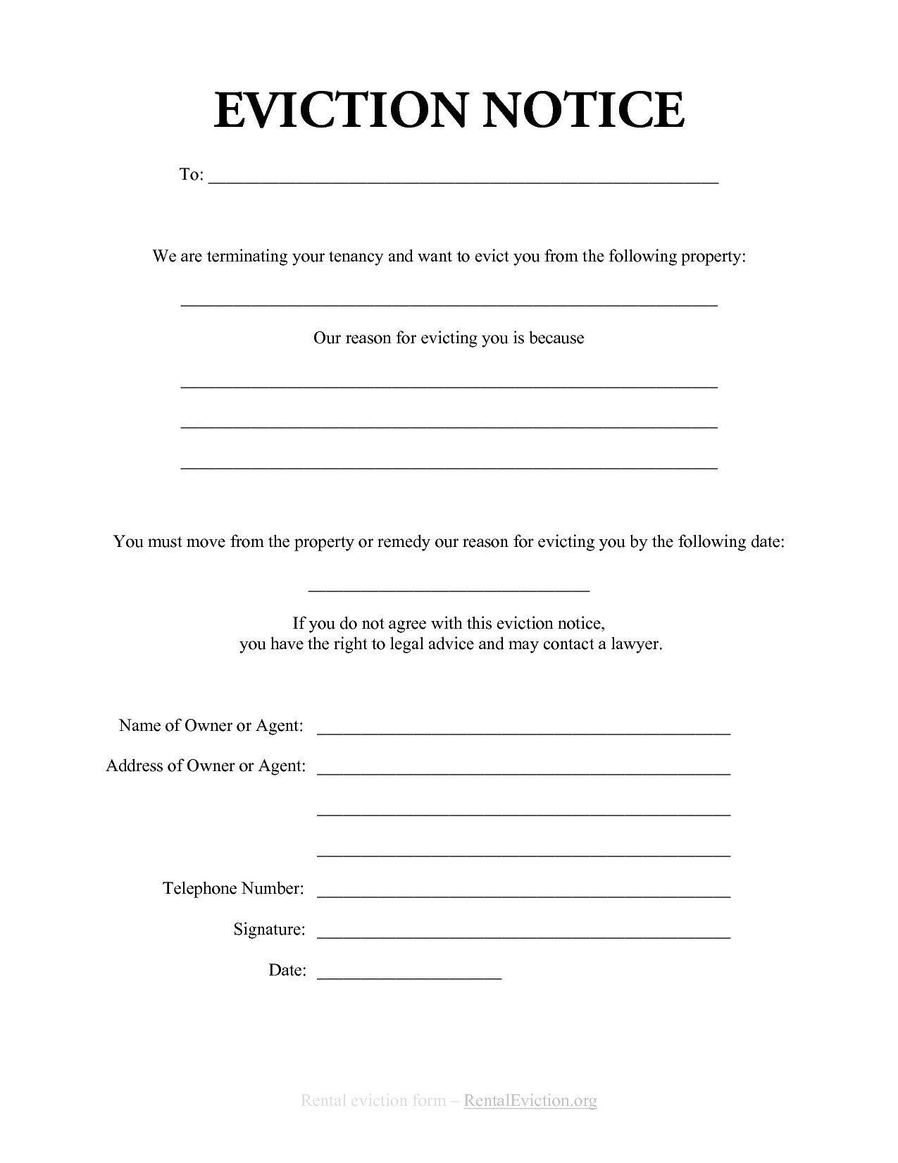 006 Outstanding 30 Day Eviction Notice Template High Resolution  Pdf FormFull