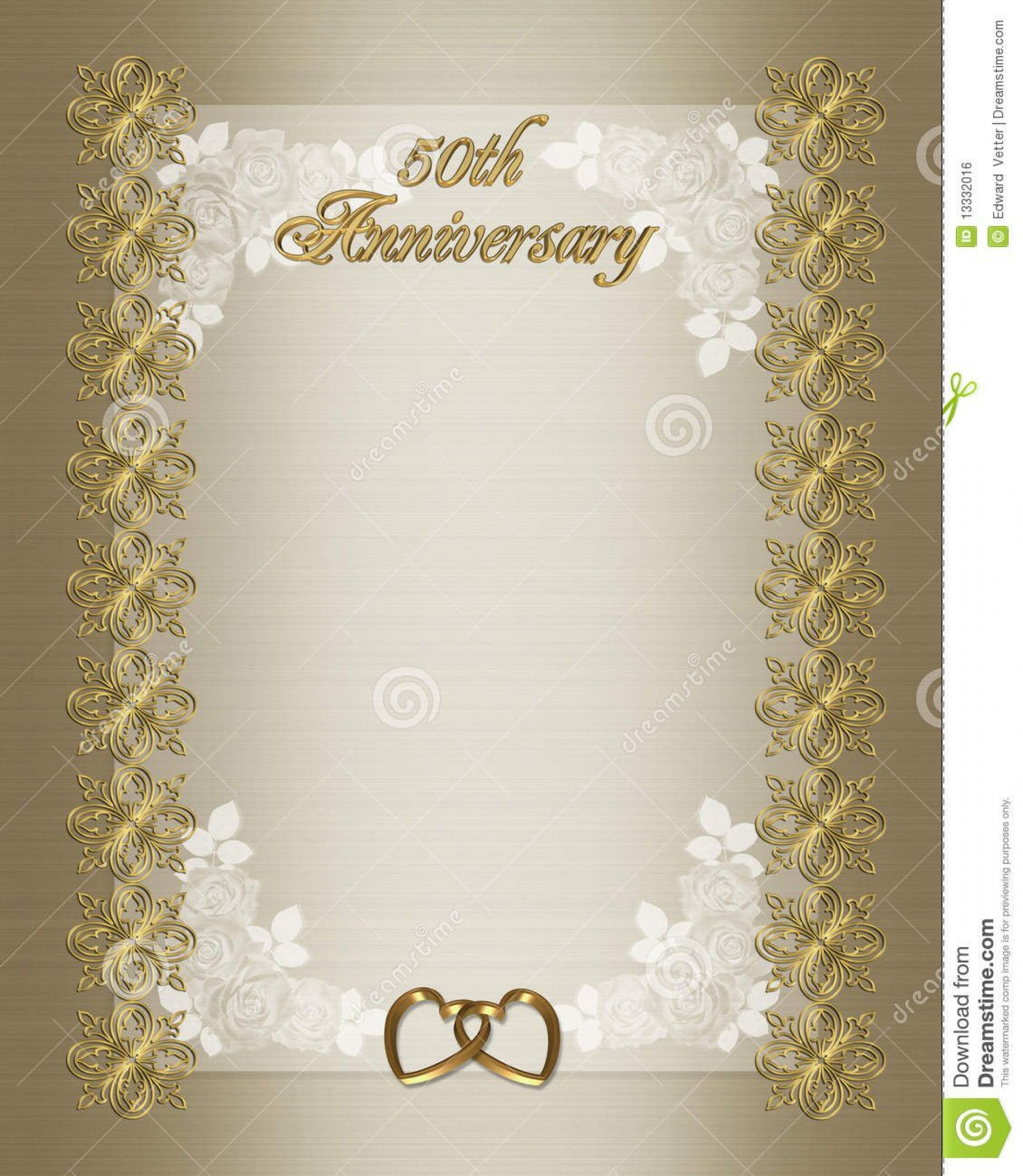 006 Outstanding 50th Anniversary Invitation Template Free Download Highest Quality  Golden Wedding1920