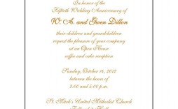 006 Outstanding 50th Wedding Anniversary Invitation Sample  Samples Free Party Template Card Idea
