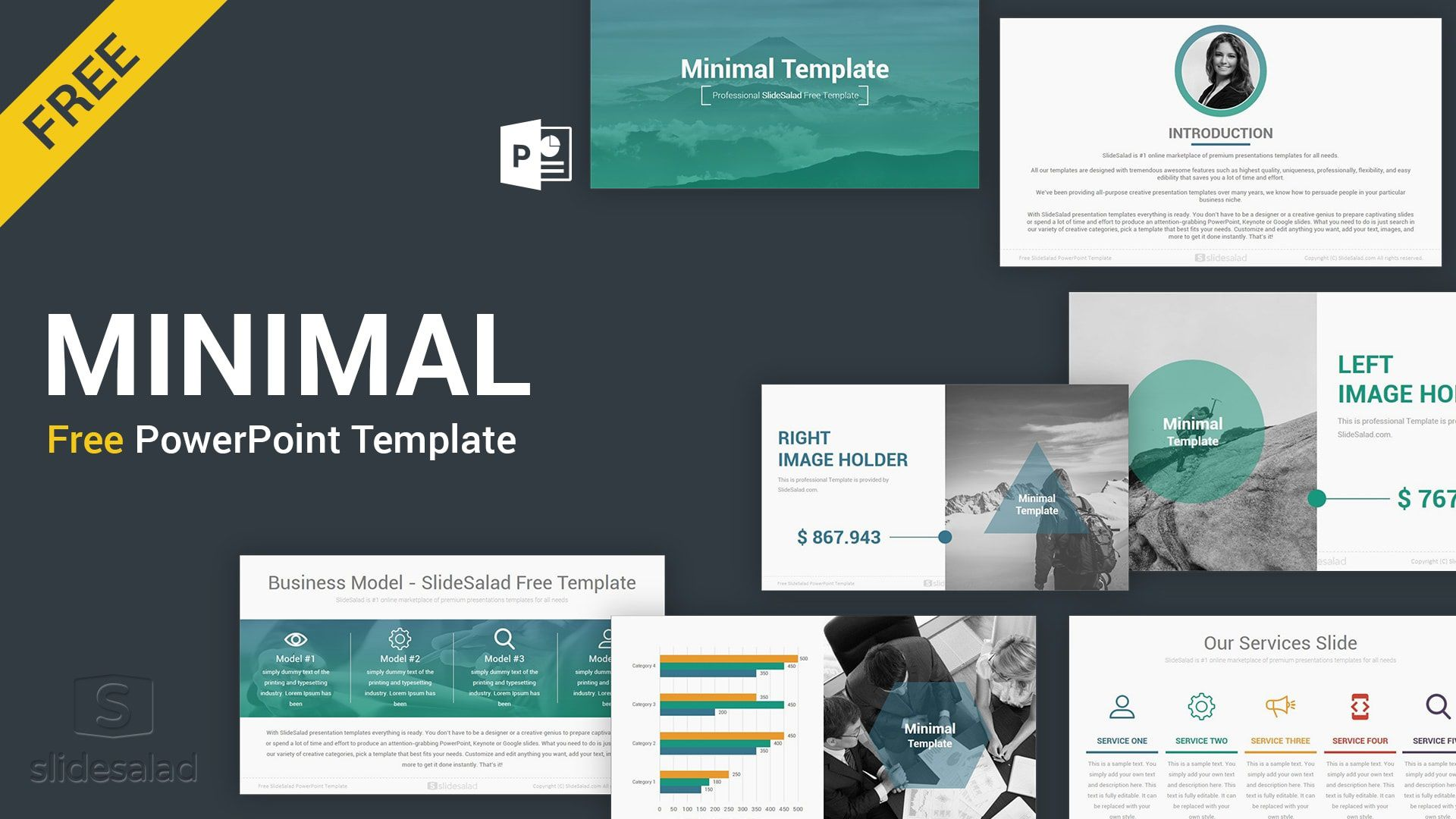 006 Outstanding Best Powerpoint Template Free Example  Busines Download White Background 2019Full