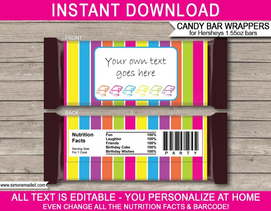006 Outstanding Candy Bar Wrapper Template Microsoft Word High Definition  Blank For Printable Free868