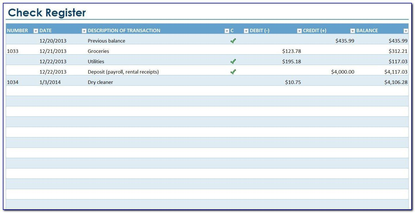 006 Outstanding Checkbook Register Template Excel 2013 Highest Quality Full