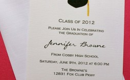 006 Outstanding College Graduation Party Invitation Template Highest Quality  Templates