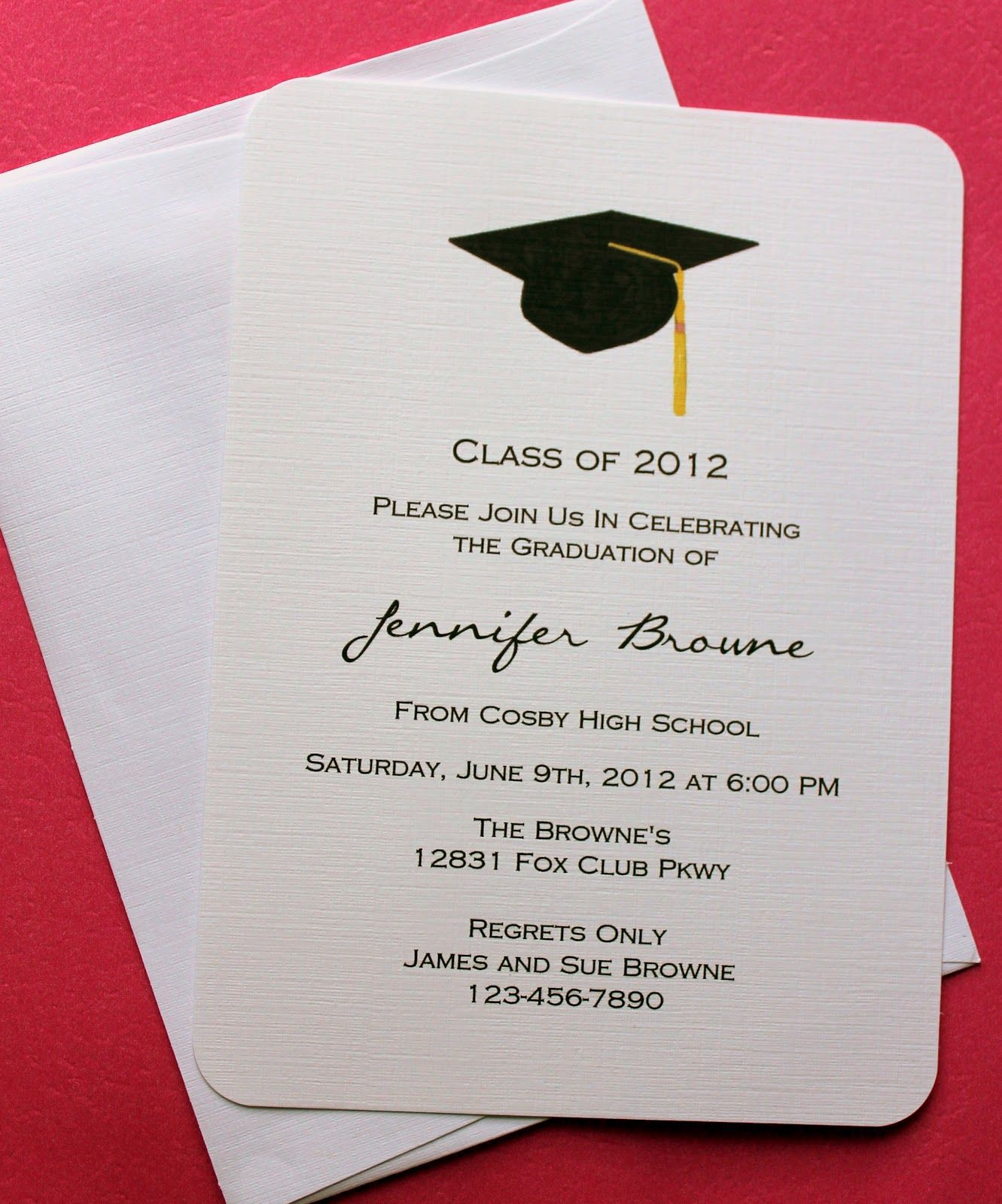 006 Outstanding College Graduation Party Invitation Template Highest Quality  TemplatesFull