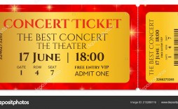 006 Outstanding Concert Ticket Template Free Printable High Def  Gift