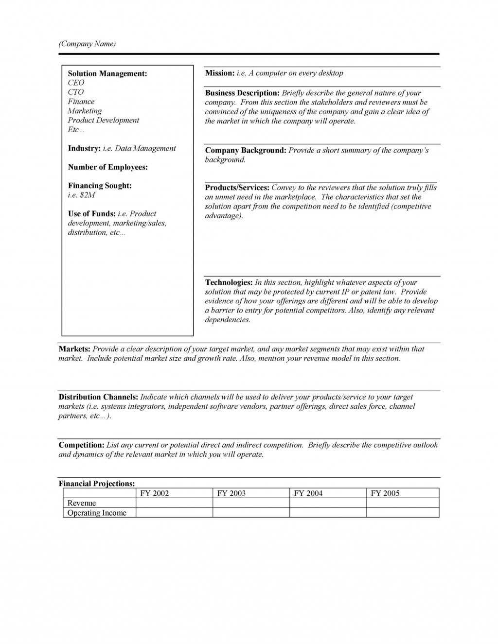 006 Outstanding Executive Summary Report Word Template Design Large