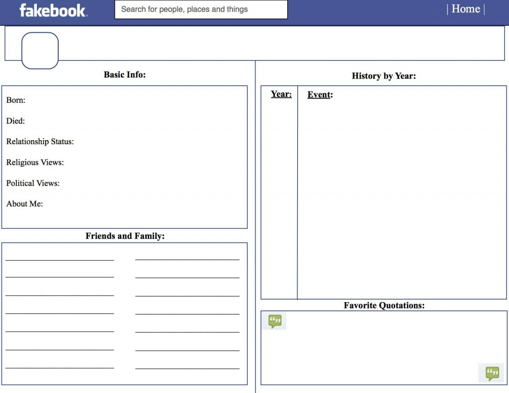 006 Outstanding Fake Facebook Page Template Example  Busines Microsoft Word Create ALarge