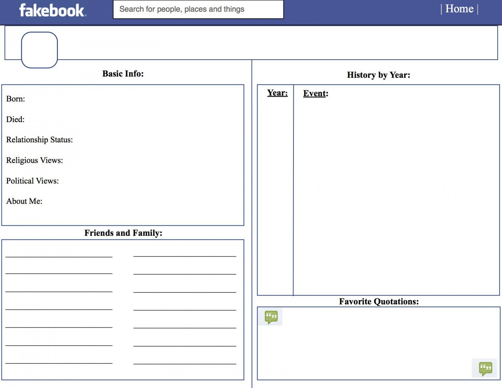 006 Outstanding Fake Facebook Page Template Example  Busines Microsoft Word Create A1920
