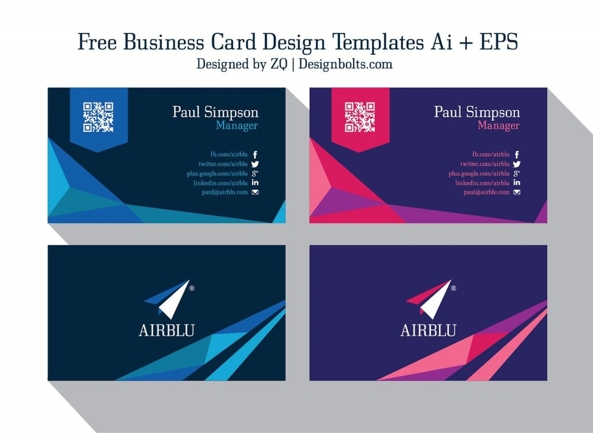 006 Outstanding Free Busines Card Design Template Idea  Templates Visiting Download Psd Photoshop1920