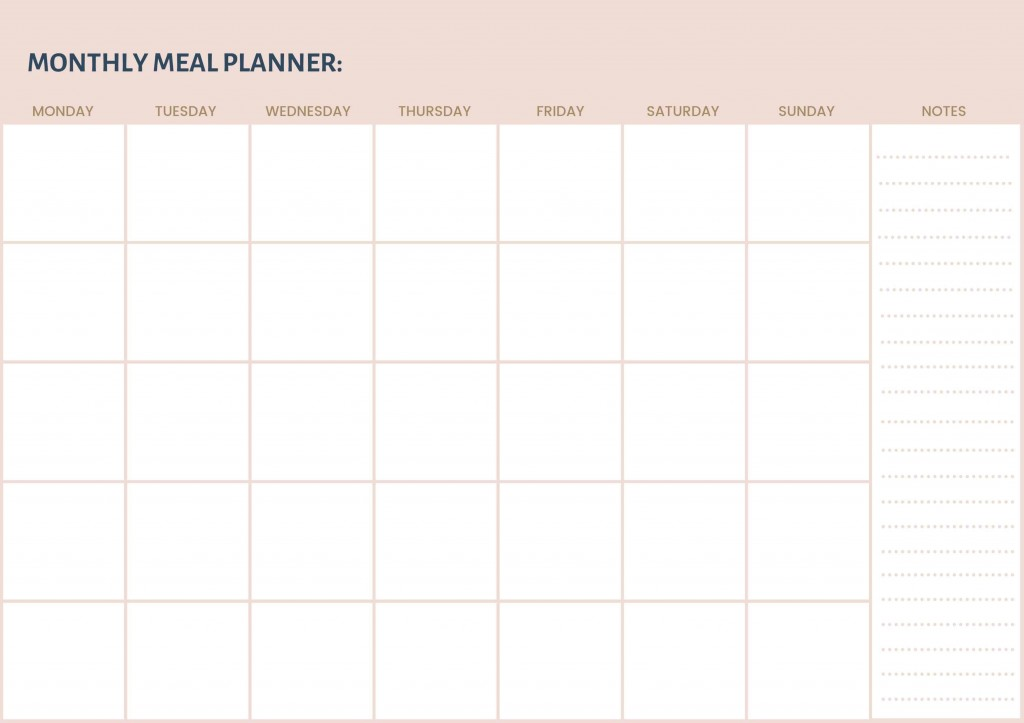 006 Outstanding Free Meal Planner Template Pdf Highest Quality  Weekly With Grocery List MonthlyLarge